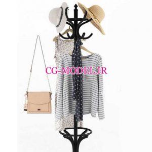 مدل سه بعدی لباس و کیف و کفش و کلاه