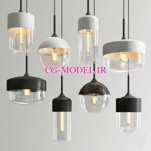 مدل سه بعدی چراغ های آویز