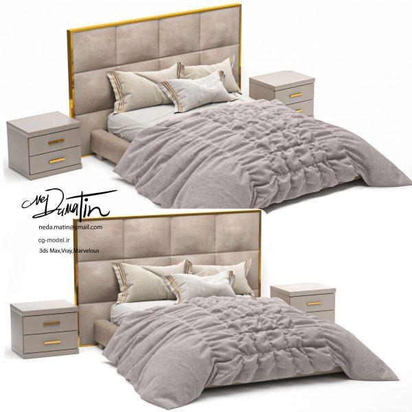 مدل سه بعدی تخت خواب (22)