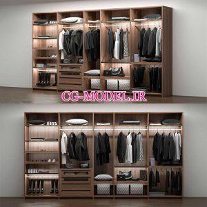 مدل سه بعدی کمد لباس (4)