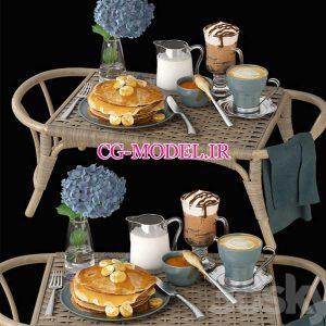 مدل سه بعدی صبحانه