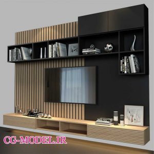 مدل سه بعدی تلویزیون دیواری (1)