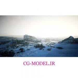 دانلود فوتیج کوه های برفی قطب جنوب با مه