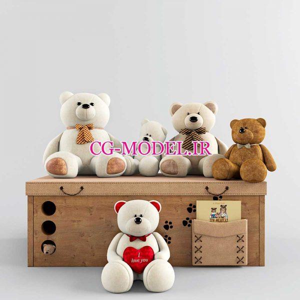 مدل سه بعدی انواع عروسک خرس