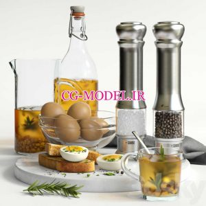 مدل سه بعدی صبحانه (3)