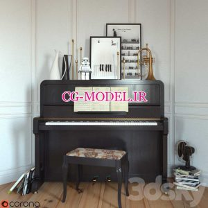 مدل سه بعدی پیانو