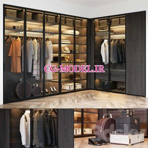 مدل سه بعدی کمد لباس (5)