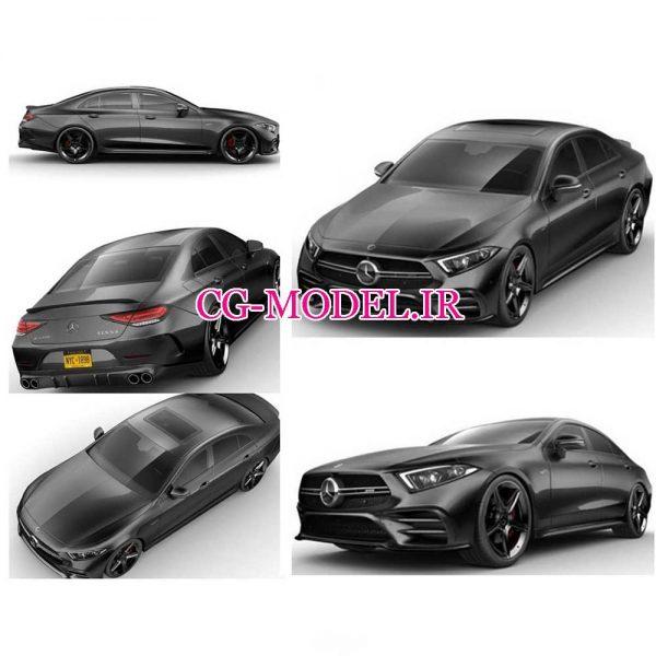 مدل سه بعدی ماشین Mercedes CLS AMG