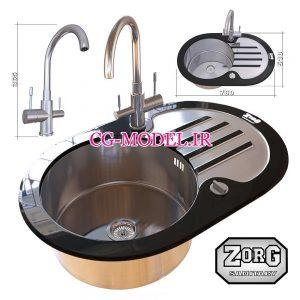مدل سه بعدی سینک ظرفشویی (6)