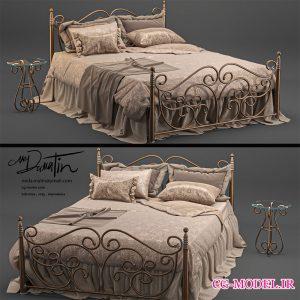 مدل سه بعدی تخت خواب فرفورژه
